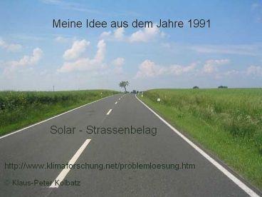- Straßenbelag mit Solarzellen -